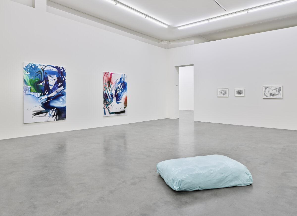 Ausstellungsansicht mit Werken von Julia Gruner, Max Frintrop und Alice Gericke