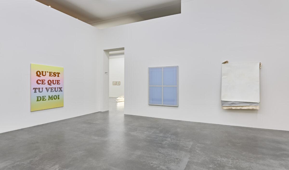 Ausstellungsansicht mit Werken von Ben Hübsch und Franziska Reinbothe