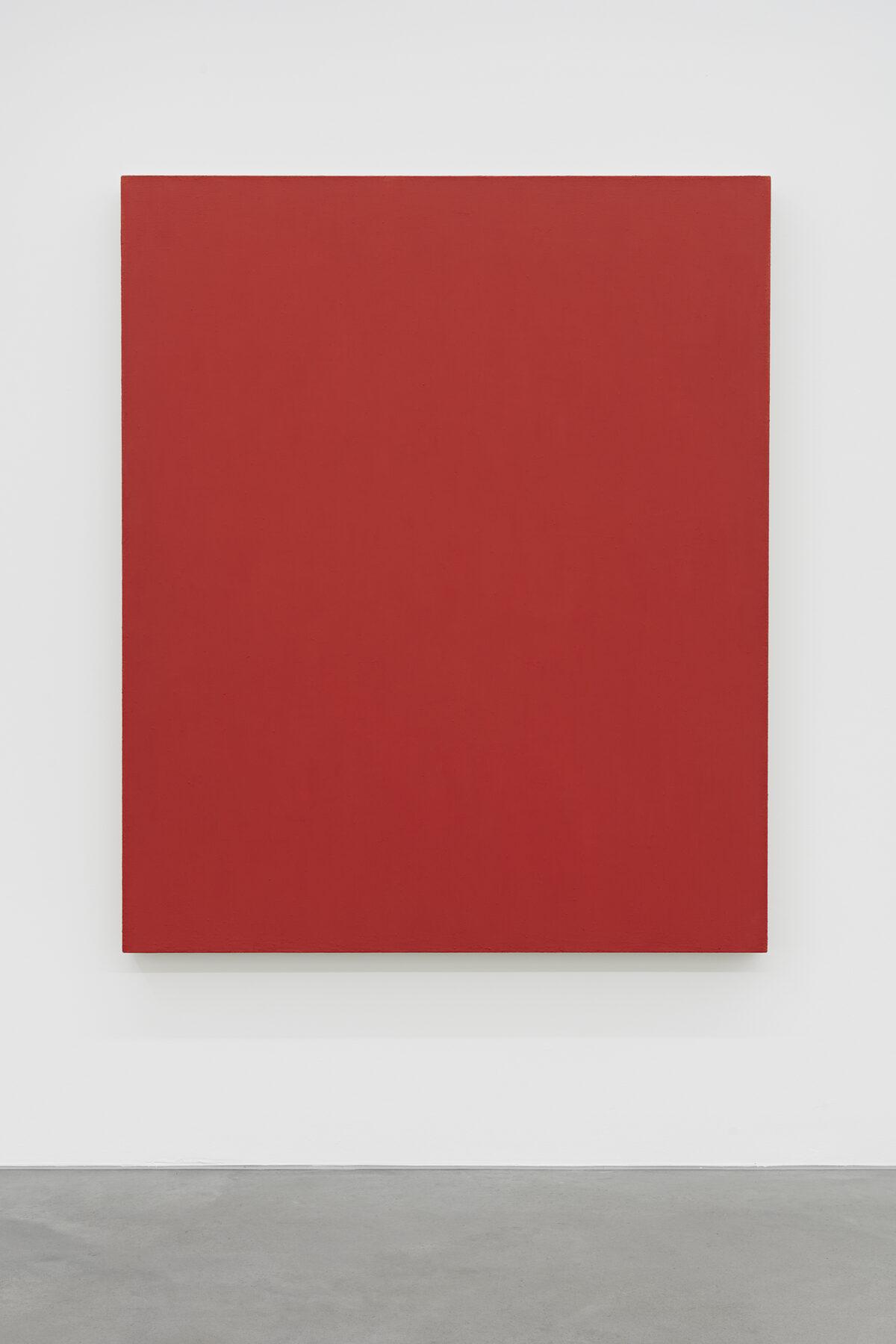 Phil Sims, Cat. 420 (orange/red), 2000,  Öl auf Leinwand, 153 x 128 cm. Courtesy Paul Ege Art Collection
