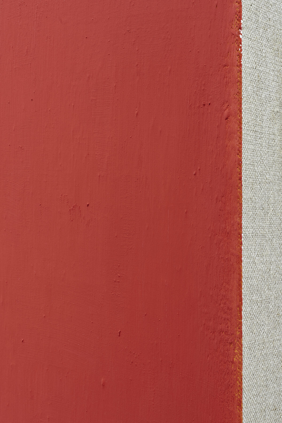Phil Sims, Cat. 420 (orange/red) (Detail), 2000,  Öl auf Leinwand, 153 x 128 cm. Courtesy Paul Ege Art Collection