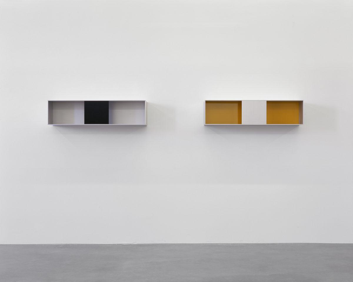 Ausstellungsansicht der Eröffnungsausstellung (2004) mit Werken von Donald Judd